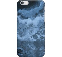 Blue abstract texture iPhone Case/Skin