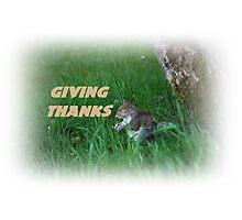 Giving Thanks Photographic Print