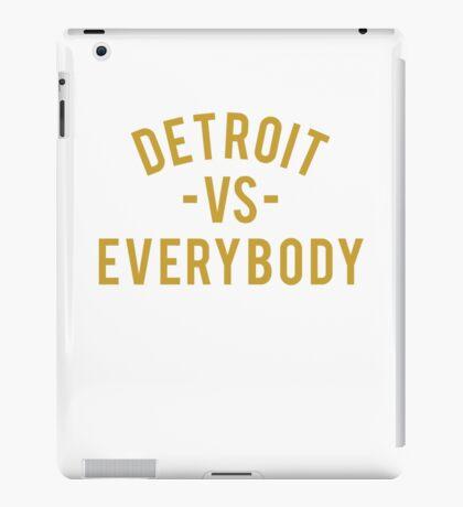 Detroit VS Everybody | Gold iPad Case/Skin