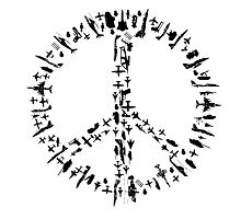 Peace sign Illustration - Guns and Weapon by ohaniki
