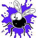 Fly Splat - Blue by Calvin Innes