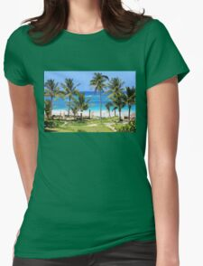 Isla Mujeres Beach Mexico Womens Fitted T-Shirt