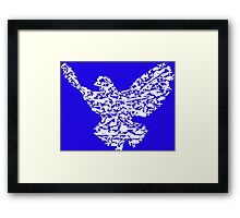 Freedom Pidgeon / Bird - Weapons illustration Framed Print