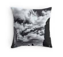 Now crows fill my windows Throw Pillow
