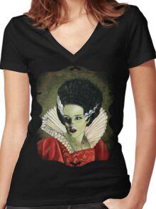 Renaissance Victorian Portrait - Bride of Frankenstein Women's Fitted V-Neck T-Shirt