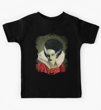 Renaissance Victorian Portrait - Bride of Frankenstein Kids Tee