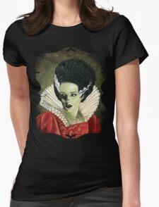 Renaissance Victorian Portrait - Bride of Frankenstein Womens Fitted T-Shirt