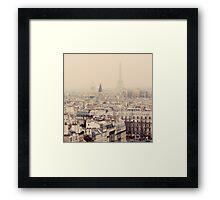 paris rooftops Framed Print