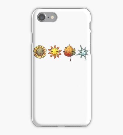 the seasons in a row iPhone Case/Skin