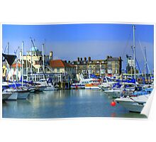 Lowestoft Harbour UK Poster