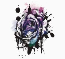 Painted Rose Tee Graphic Kids Clothes