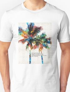 Colorful Palm Trees - Returning Home - By Sharon Cummings Unisex T-Shirt