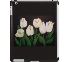 six white tulips iPad Case/Skin