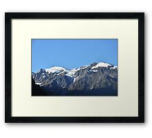 Snow capped mountains in Franz Josef New Zealand Framed Print