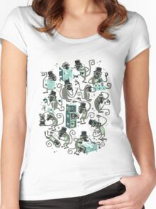 Monkey Magic  Women's Fitted Scoop T-Shirt