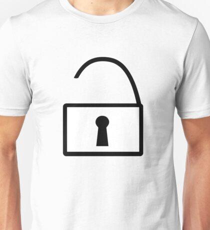 Open Padlock Symbol Unisex T-Shirt