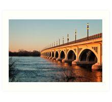 MacArthur Bridge At Sunset Art Print