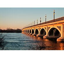 MacArthur Bridge At Sunset Photographic Print