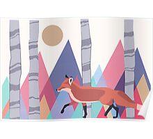 Fox stroll Poster