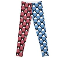 Red Forest and Blue Mountains patterns Leggings