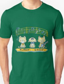 Cute singing kittens Unisex T-Shirt