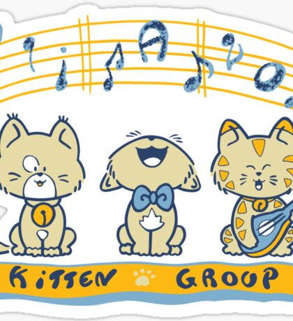 Cute singing kittens Sticker