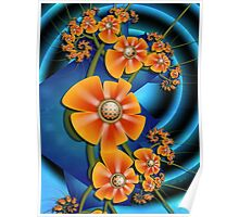 Candied Fruit Flowers Poster