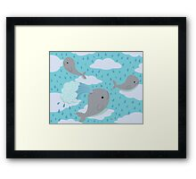 The Flying Whales Framed Print