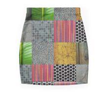 Texture Blocks Mini Skirt