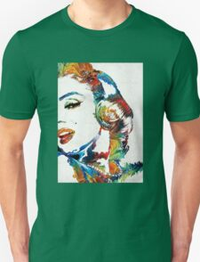 Marilyn Monroe Painting - Bombshell - By Sharon Cummings Unisex T-Shirt