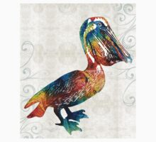 Colorful Pelican Art 2 by Sharon Cummings Kids Clothes