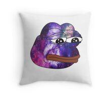 rare pepe galaxy Throw Pillow