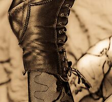 Sexy Boot And Stocking Sepia by Moonlake