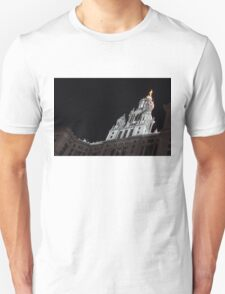 City Night Walks - Manhattan Municipal Building, a  Beaux-Arts Jewel T-Shirt