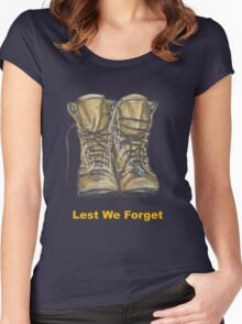 Lest We Forget Women's Fitted Scoop T-Shirt