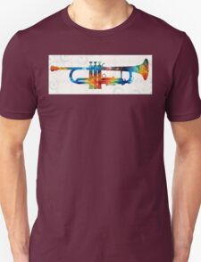 Colorful Trumpet Art Color Fusion By Sharon Cummings  Unisex T-Shirt