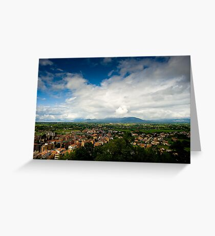 View From Palazzo Borghese Greeting Card