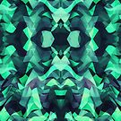 Abstract Surreal Chaos theory in Modern poison turquoise green by badbugs