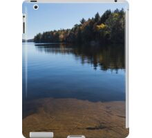 Golden Ripples Bedrock - Fall Mood Reflection   iPad Case/Skin