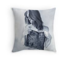 """""""Lovely in black lace...."""" Throw Pillow"""