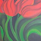 Red Tulip Diptych (Left) by taiche