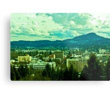 Downtown Eugene Metal Print
