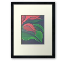 Red Tulip Diptych (Right) Framed Print