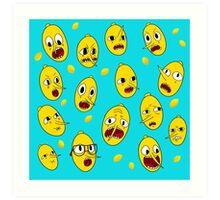 Lemongrab BLUE  Art Print