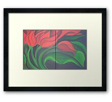 Red Tulip Diptych Framed Print