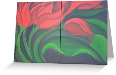 Red Tulip Diptych by taiche