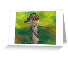Sweet Pam the Jam Ostrich Greeting Card