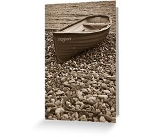 Beached boat - Beer Devon Greeting Card