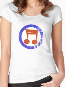 Music Mod Distressed Women's Fitted Scoop T-Shirt