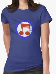 Music Mod Distressed Womens Fitted T-Shirt